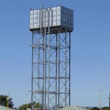 Galvanized Steel Water Tank With High Tower